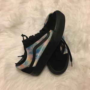 60b3f18a8ed312 Vans Shoes - VANS Velvet Tie-Dye Old Skool Platform Shoes
